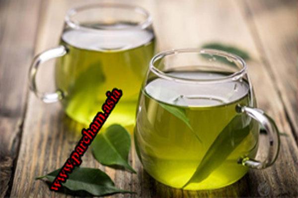 چایی سبز و قرمزی پوست