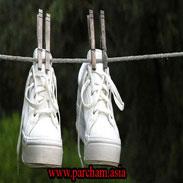 خشک کردن کفش سفید
